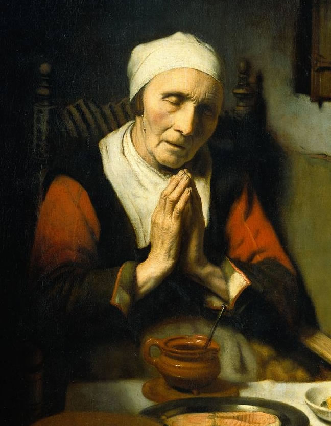 1656 OLD-WOMAN-PRAYING MAES-2