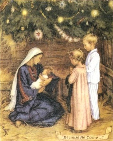 A Baby In A Manger Cicely Mary Barker 1895-1973