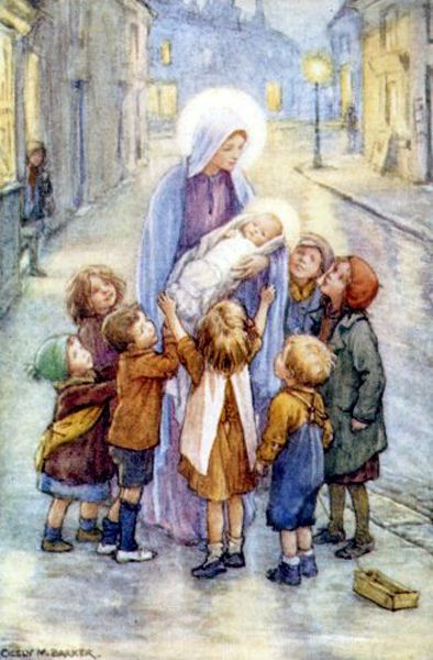 A Baby In A Manger Cicely Mary Barker 1895- 1973-2