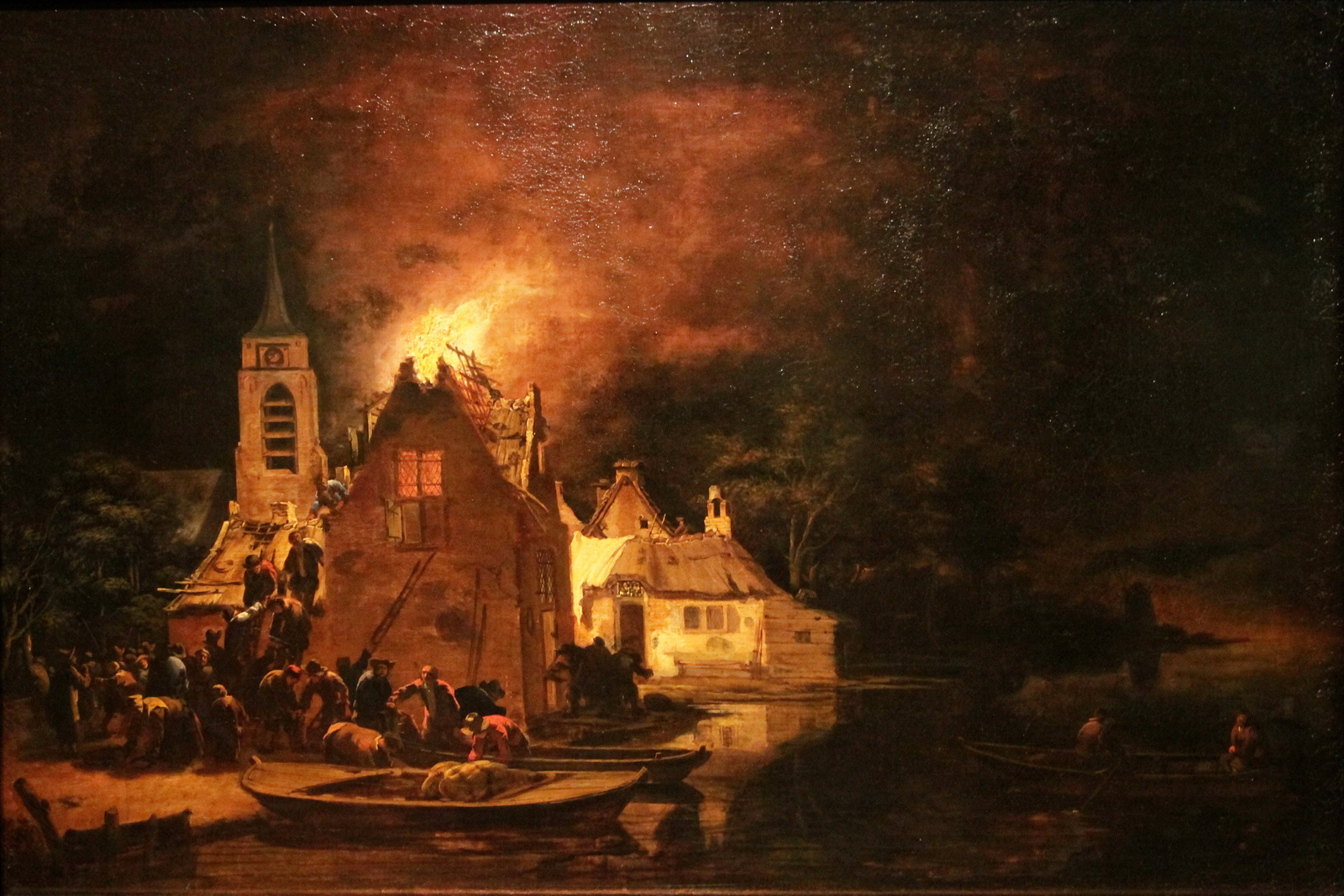 A Fire at Night Egbert van der Poel-1600