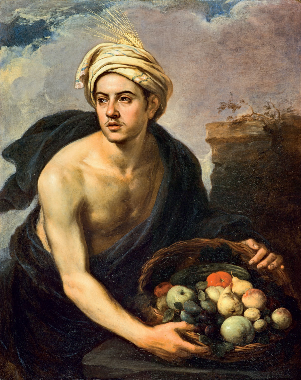 A Young Man with a Basket of Fruit by Bartolomé Esteban Murillo 16651670