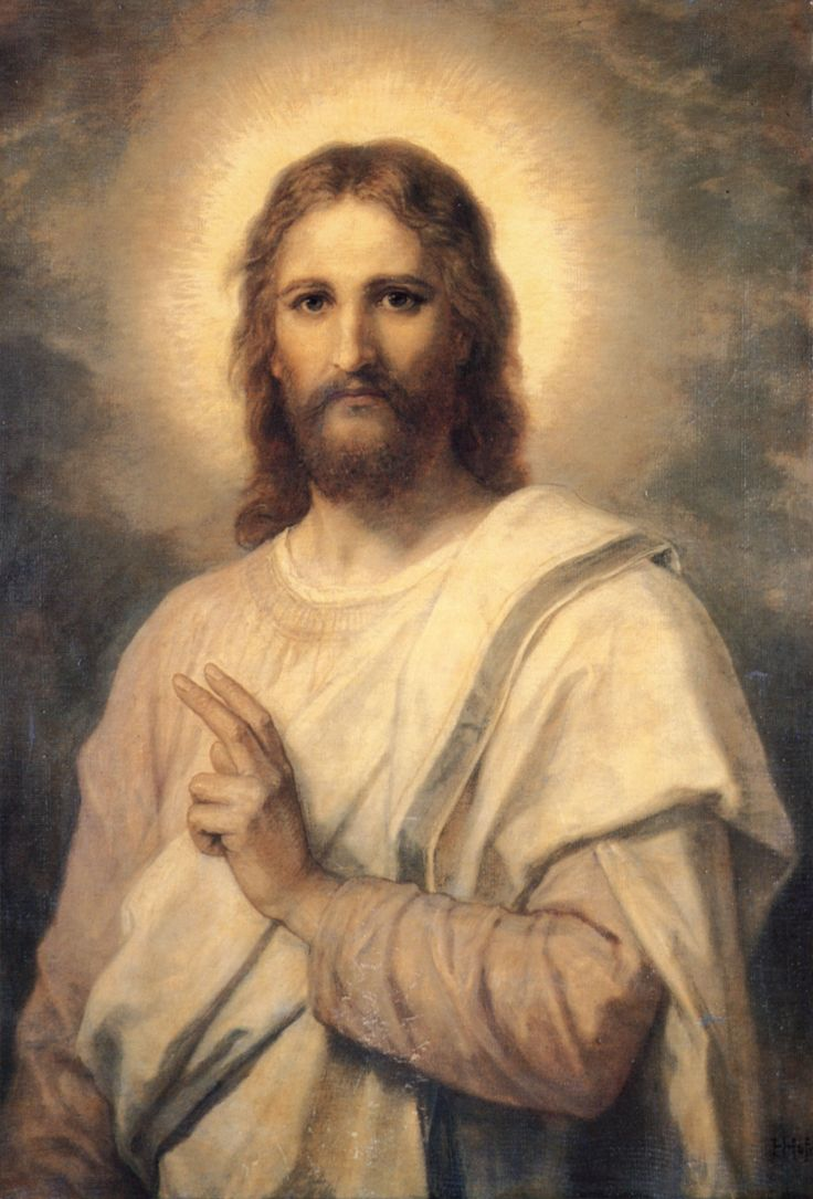 A painting of Jesus by Heinrich Hoffmann often called Portrait in White