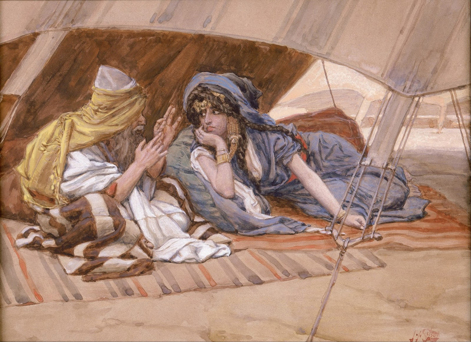 Abrams Counsel to Sarai watercolor circa 18961902 by James Tissot