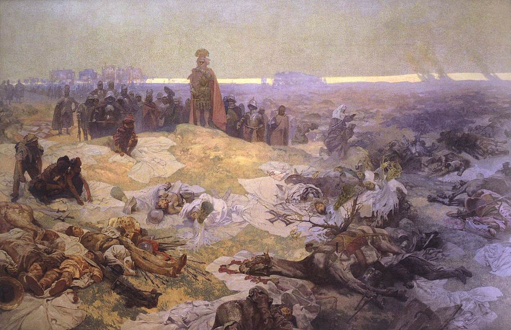 After the Battle of Grunwald - Alfons Mucha-1500