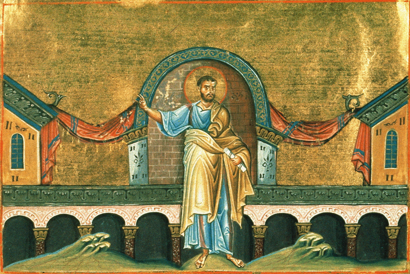 Ahijah the Shilonite Menologion of Basil II 1