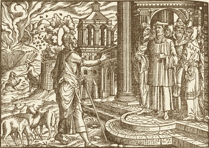 Amos Prophesies Against Israel image from Martin Luthers Bibliai