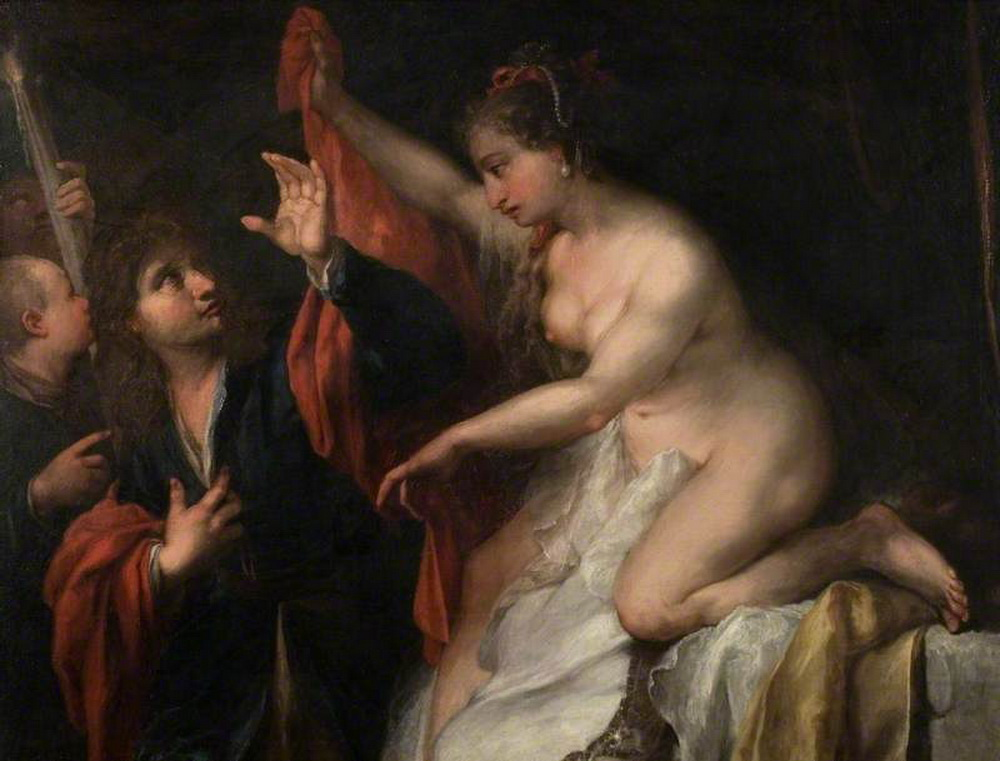 Andrea Celesti. 16371712. Italian. Joseph Seduced by Potiphars Wife-1000