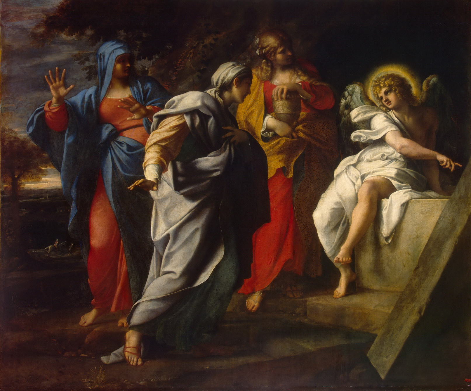 Annibale Carracci - Holy Women at Christ s Tomb-1600