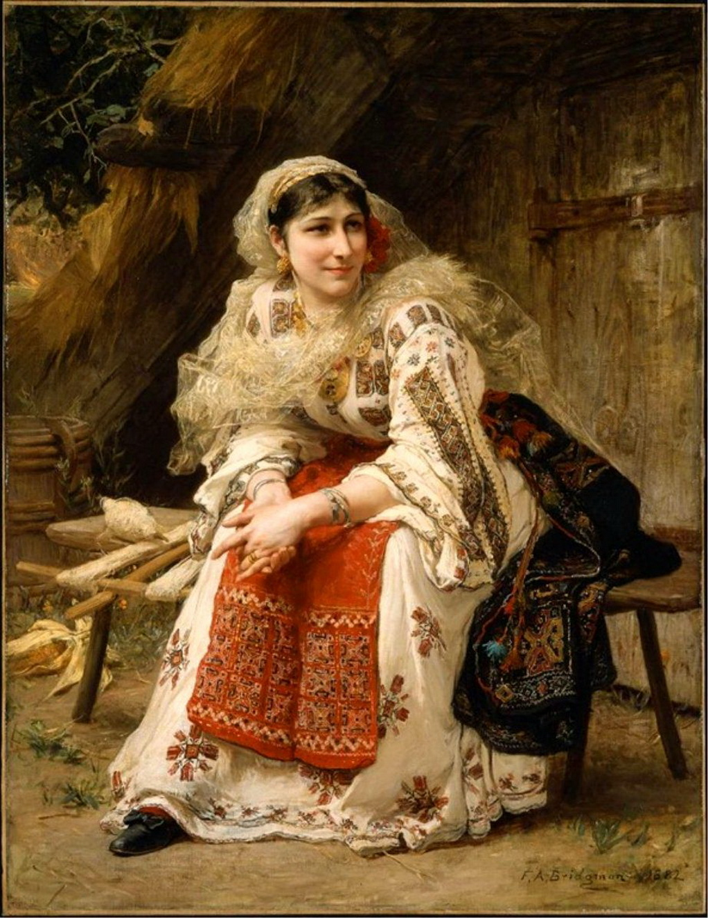 Armenian Woman by Frederick Arthur Bridgman 1882-2