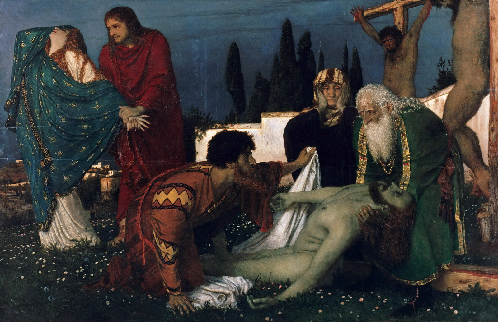 Arnold Böcklin - The Deposition - WGA03027-1600