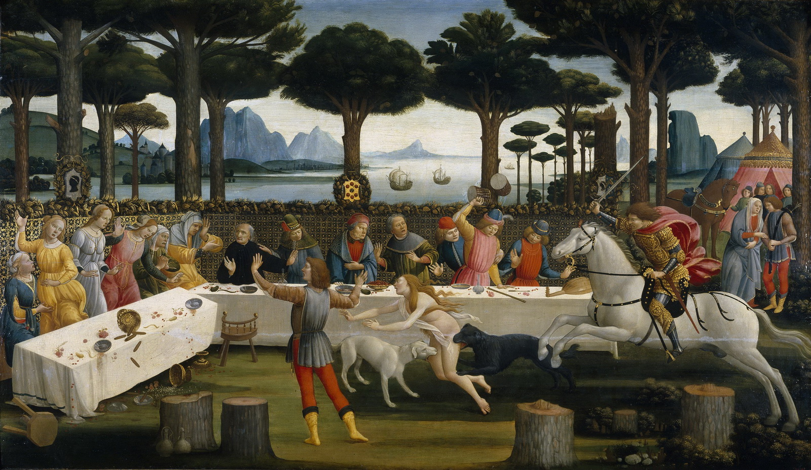 BOTICELLI The Banquet in the Pine Forest-1600