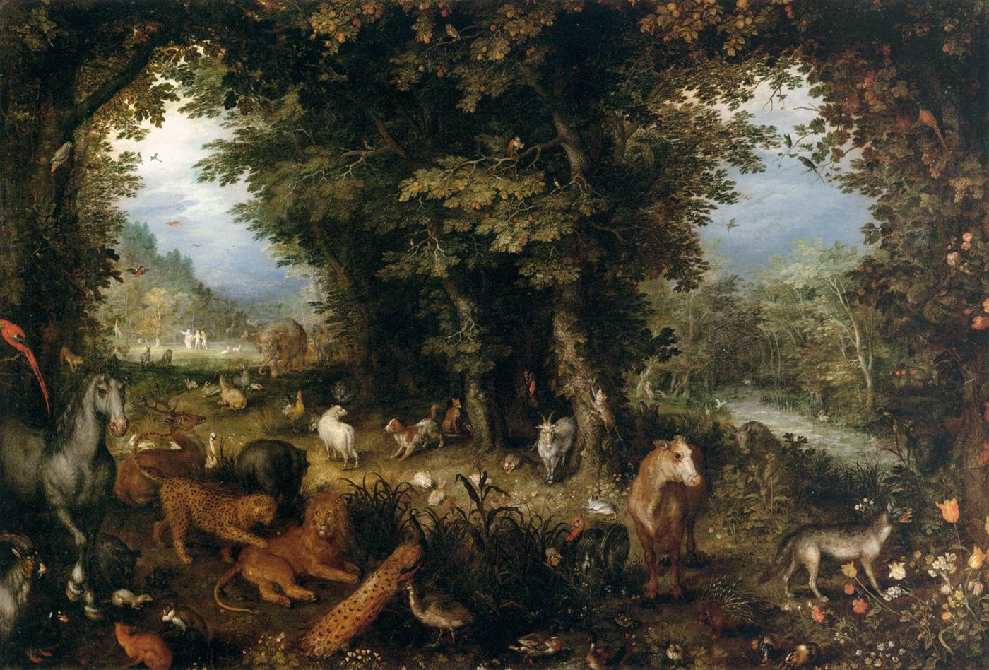 BRUEGHEL Jan the Elder Earth The Earthly Paradise 1607-08