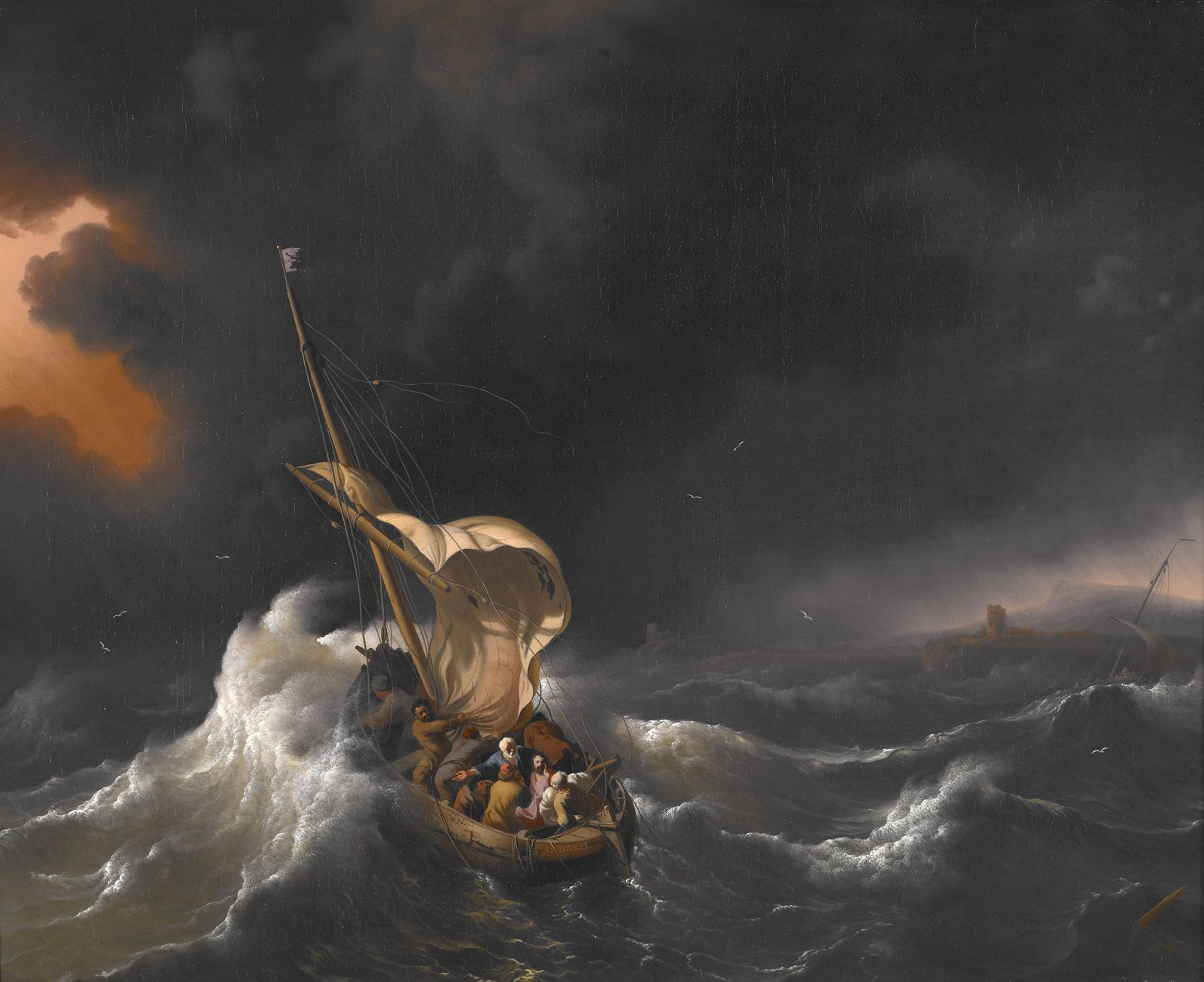Backhuysen Ludolf - Christ in the Storm on the Sea of Galilee - 1695