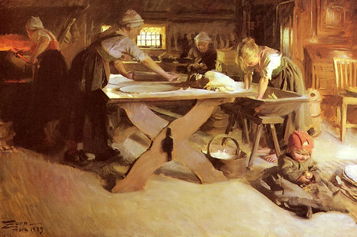 Baking the Bread - Anders Zorn