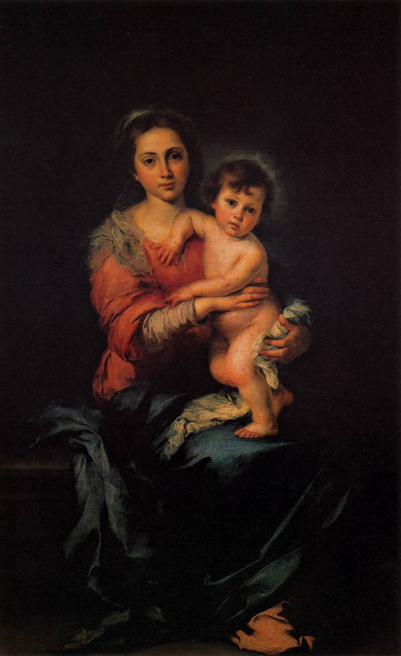 Bartolomé Esteban Murillo 1617-1682-Virgin with the Child