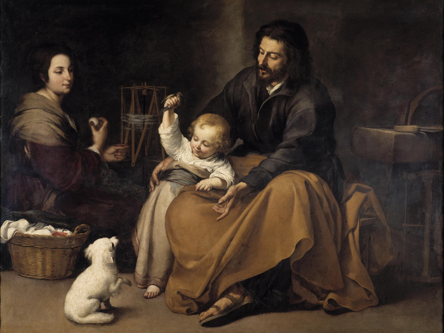 Bartolomé Esteban Perez Murillo The Holy Family with dog c. 164550-1500
