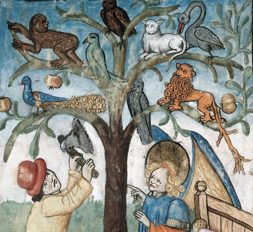 Beasts on a tree- France 1470-1480- Trees Nebuchadnezzar Books France b
