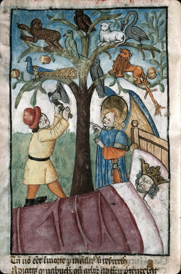 Beasts on a tree  France 1470-1480 Trees Nebuchadnezzar Books France-2-2