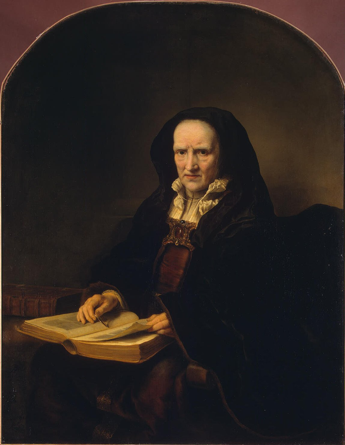Bol Ferdinand-ZZZ-Portrait of an Old Woman with a Book