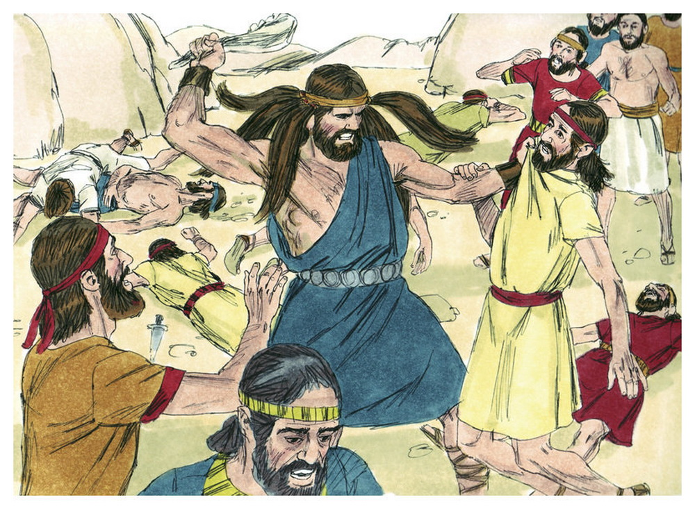 Book of Judges Chapter 15-10 Bible Illustrations by Sweet Media-2