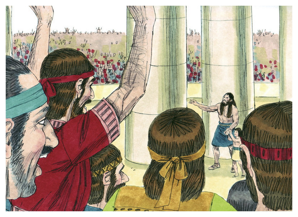 Book of Judges Chapter 16-10 Bible Illustrations by Sweet Media-2