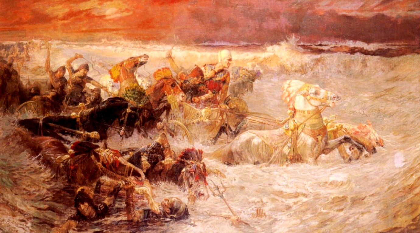 Bridgman Pharaohs Army Engulfed by the Red Sea