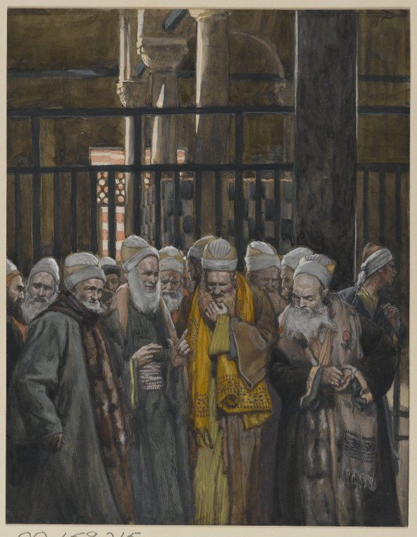 Brooklyn Museum - Conspiracy of the Jews Conspiration des juifs - James Tissot