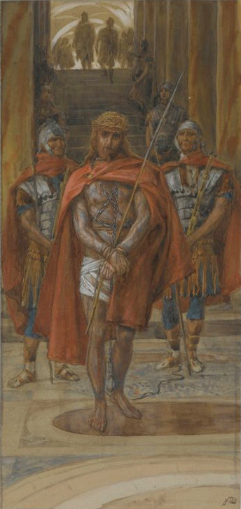 Brooklyn Museum - Jesus Leaves the Praetorium Jésus quitte le pretoire - James Tissot