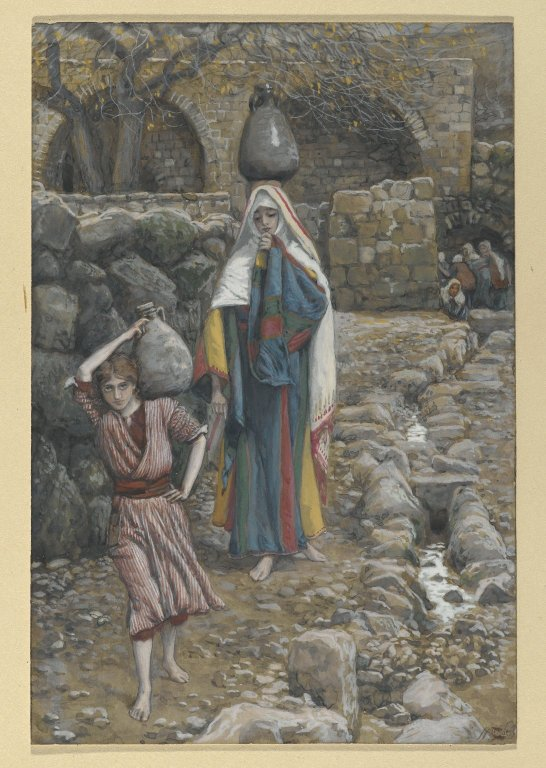 Brooklyn Museum - Jesus and his Mother at the Fountain  James Tissot - o