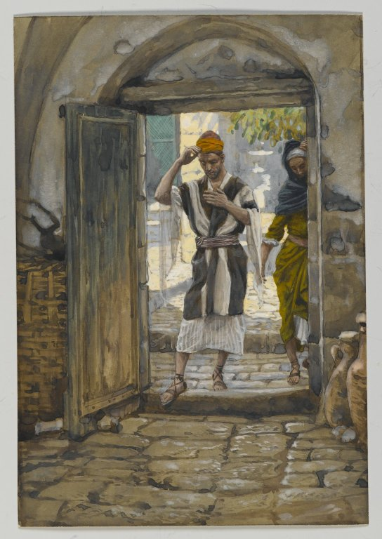 Brooklyn Museum - On Entering the House Salute It James Tissot