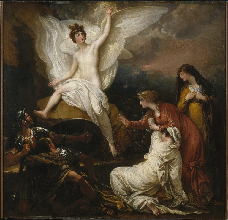 Brooklyn Museum - The Women at the Sepulchre The Angel at the Tomb of Christ Benjamin West - overall