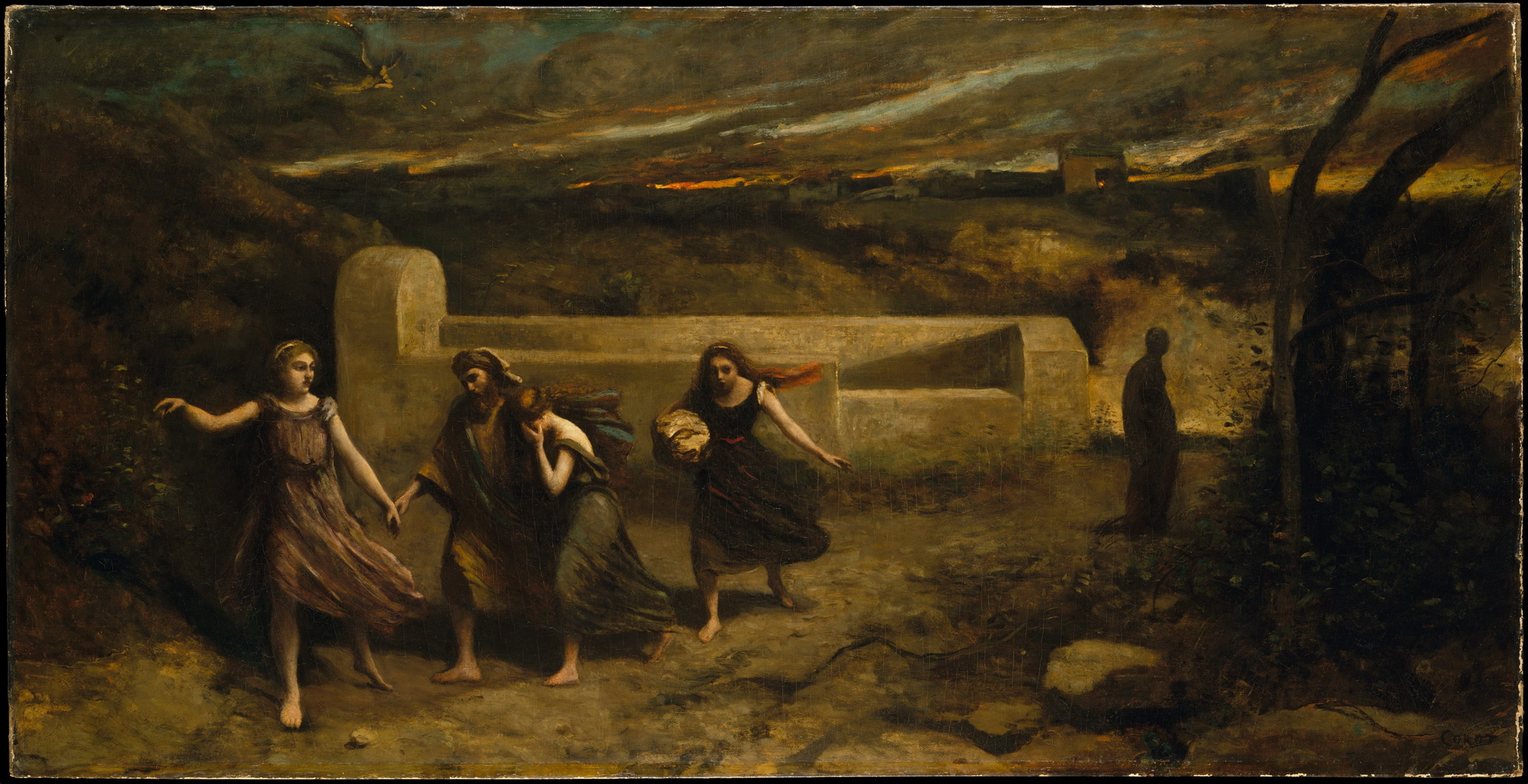 Camille Corot The Burning of Sodom-2