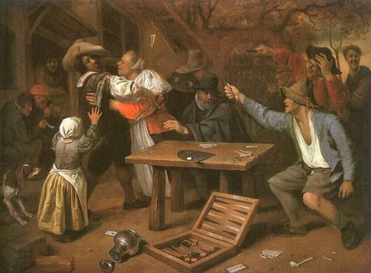 Card Players Quarreling Jan Steen-1000