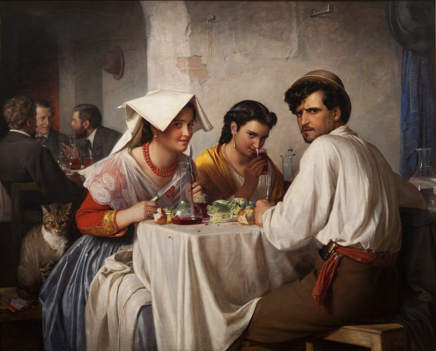 Carl Bloch - In a Roman Osteria - 1500