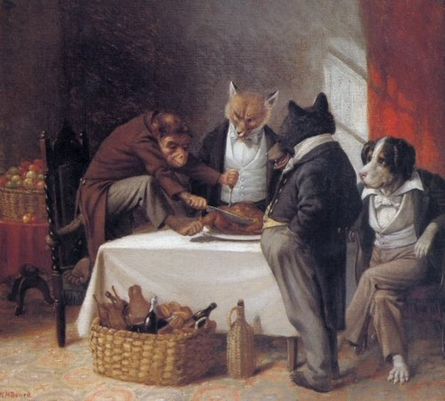 Carving the Turkey by William Holbrook Beard 1881