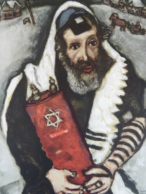 Chagall Rabbi With Torah