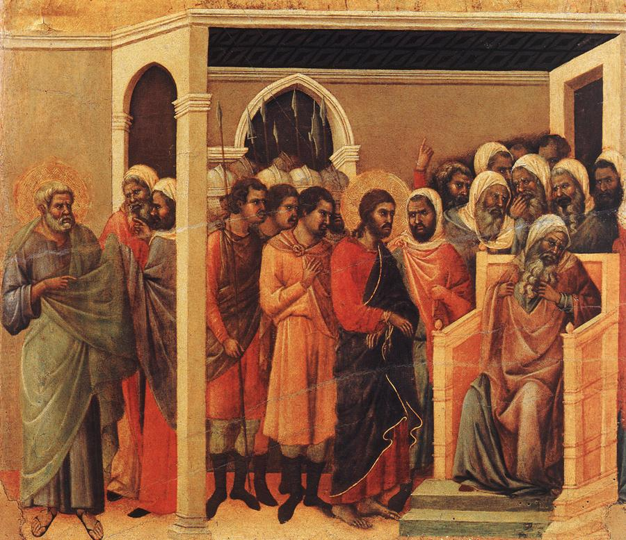 Christ Before Caiaphas by Duccio di Buoninsegna-2