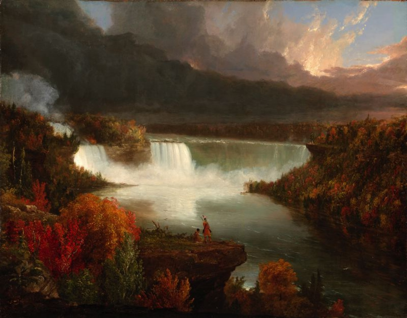 Cole Distant View of Niagara Falls Oil on canvas 1830