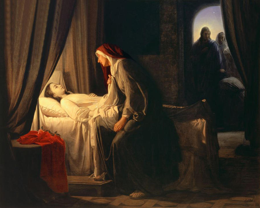 Daughter Of Jairus Painting by Carl Bloch