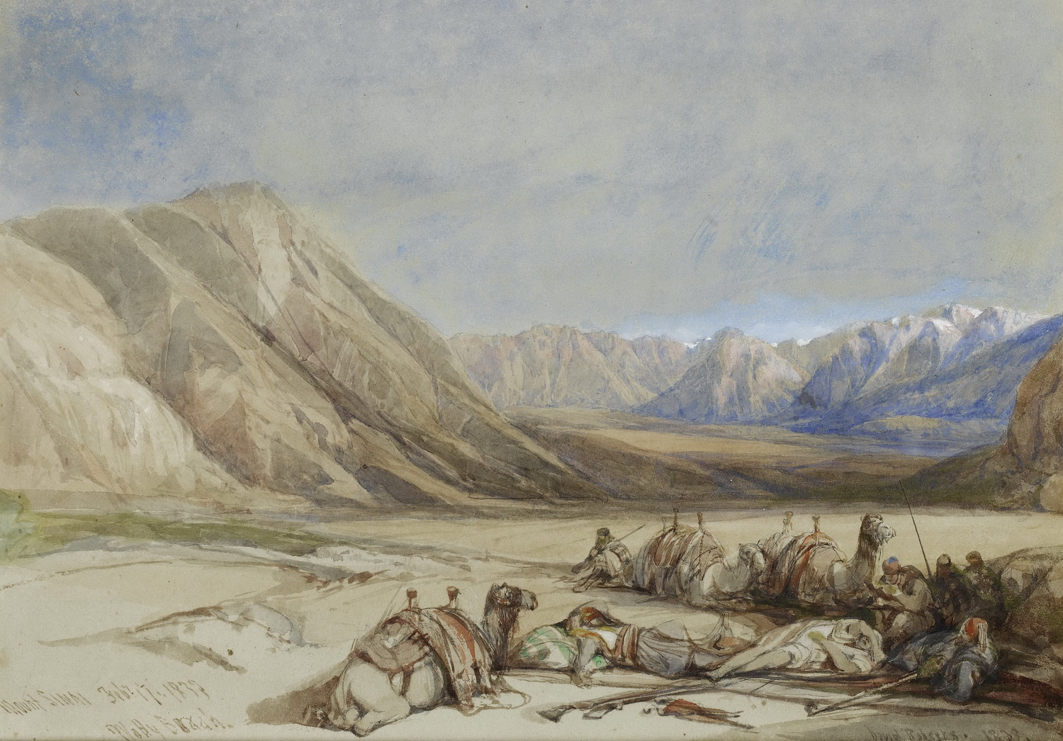 David Roberts The approach to Mount Sinai-1500