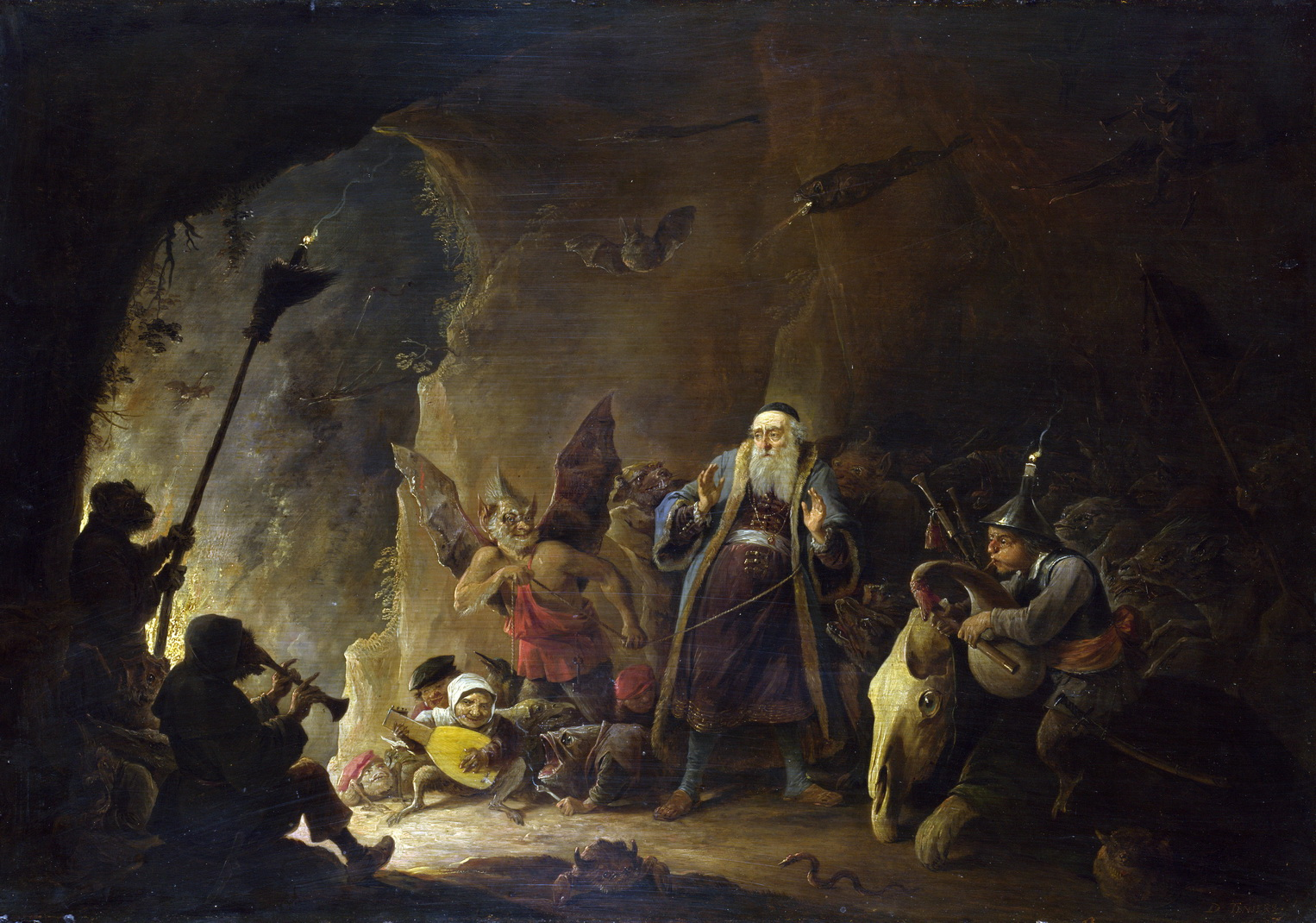 David Teniers the Younger - The Rich Man Being Led To Hell-1526