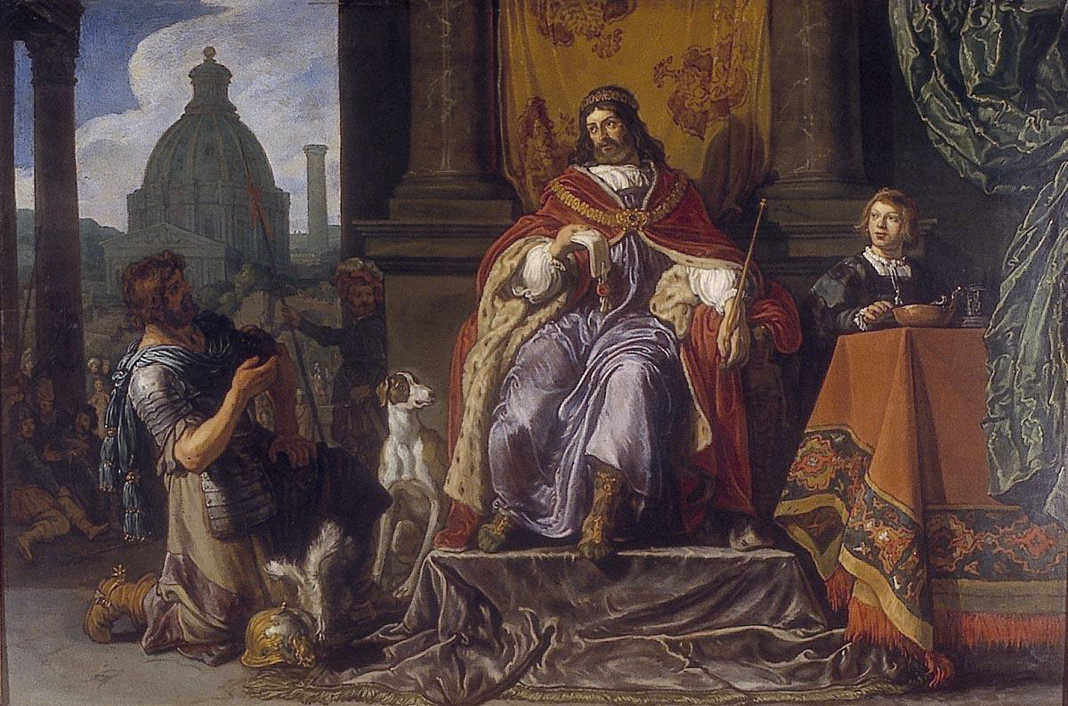 David handing over a letter to Uriah - 1619