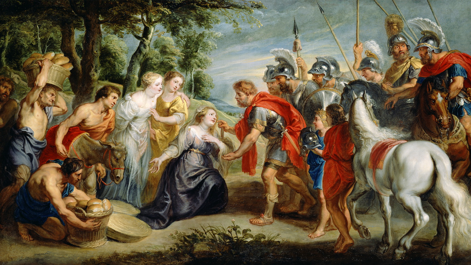 David meets Abigail - Rubens-1600