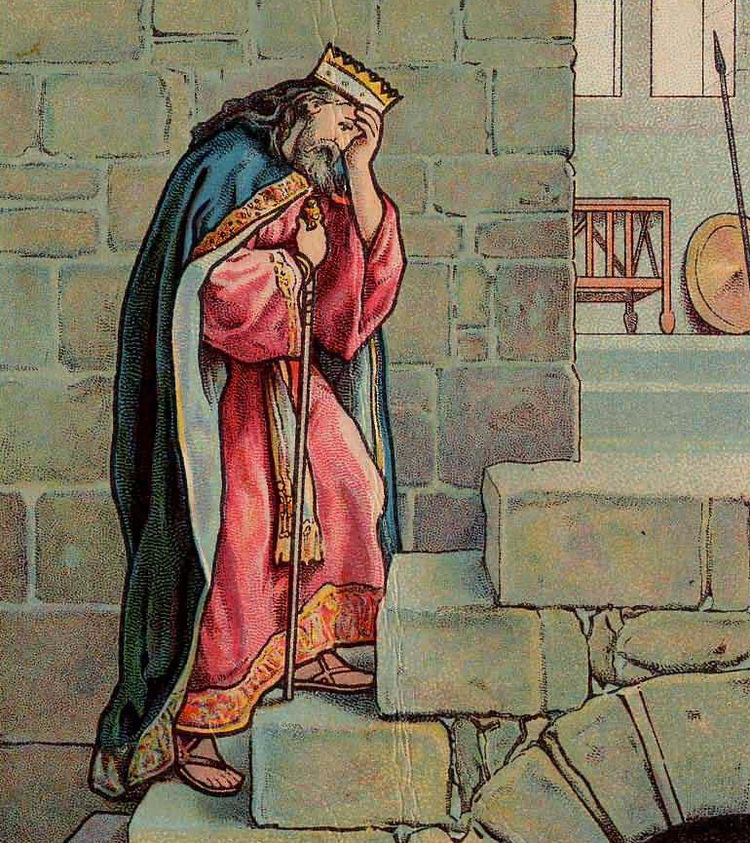 Davids Grief Over Absolom Bible Card-2