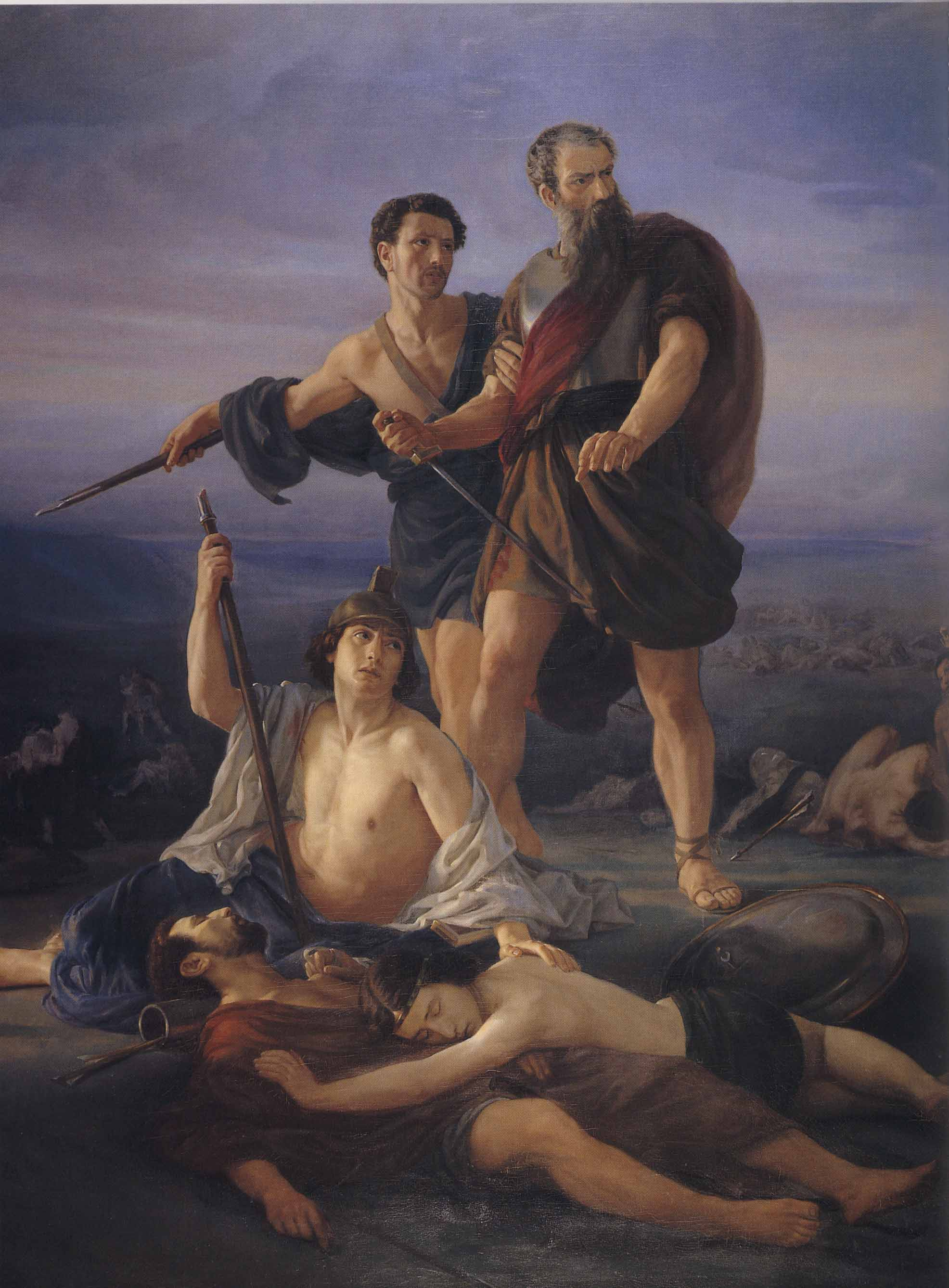 Death of King Saul 1848 by Elie Marcuse 18171902