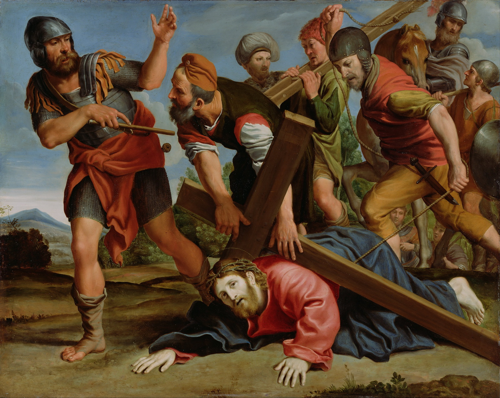 Domenichino Domenico Zampieri Italian - The Way to Calvary-2