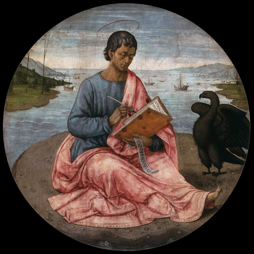 Domenico Ghirlandaio - St John the Evangelist on the Island of Patmos - WGA8885
