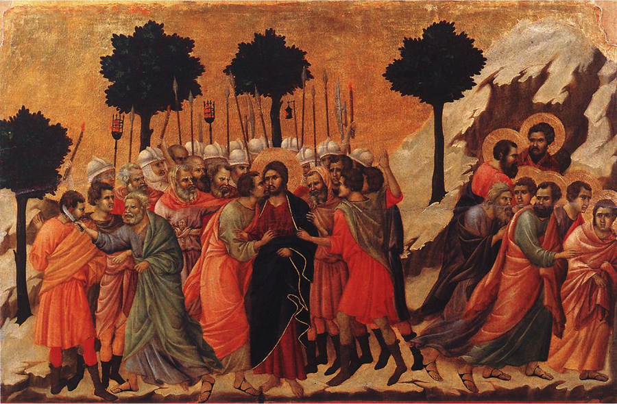 Duccio Betrayal of Jesus Maestà Altarpiece Tempera on Panel 1309-1311-900