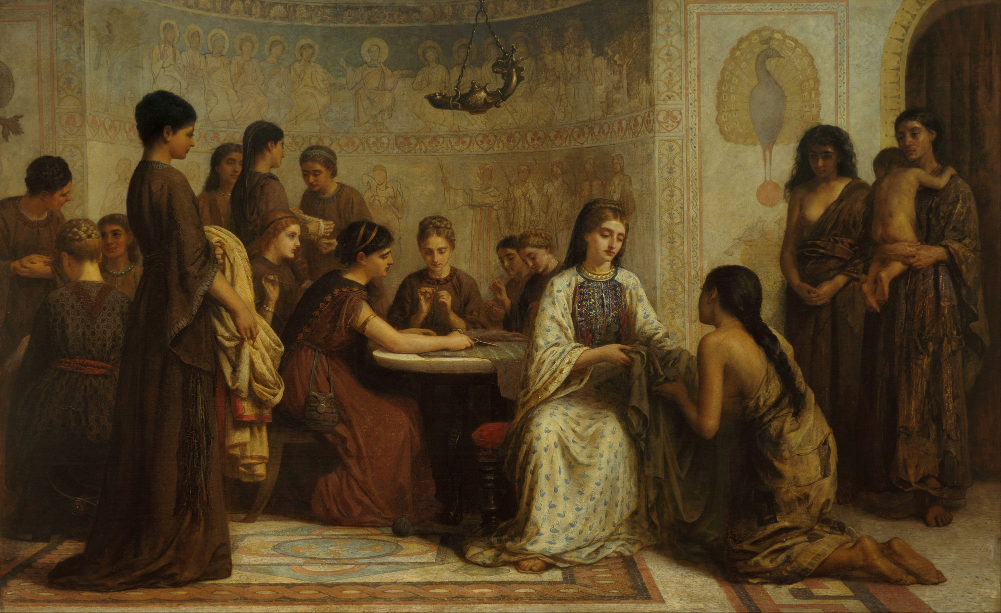 Edwin Long - A Dorcas meeting in the 6th century-2000