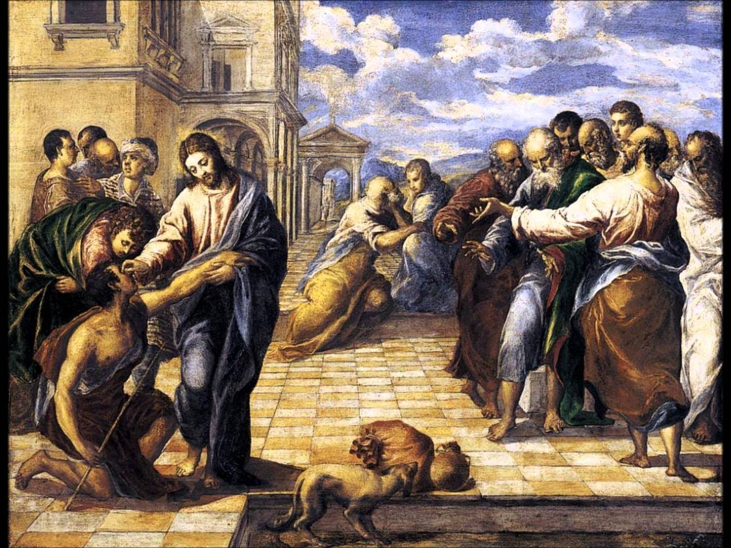 El Greco-Healing the blind